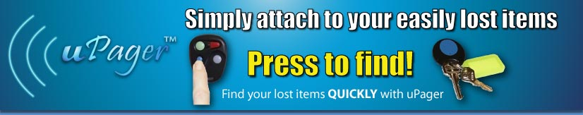 Simply attach to your easily lost items, and press to find! Find your lost items QUICKLY with uPager
